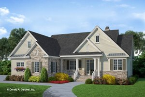 Country Exterior - Front Elevation Plan #929-534