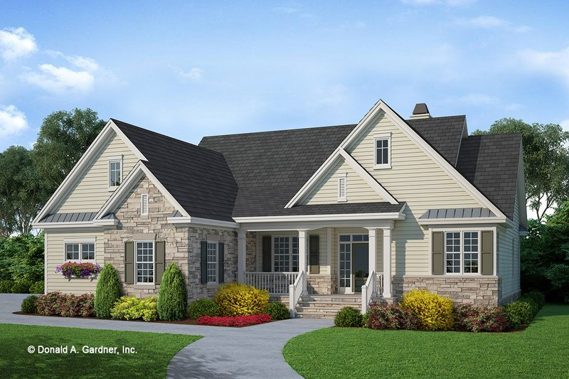 Dream House Plan - Country Exterior - Front Elevation Plan #929-534