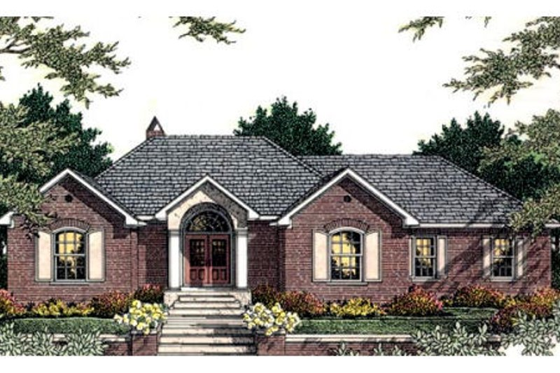 European Exterior - Front Elevation Plan #406-131