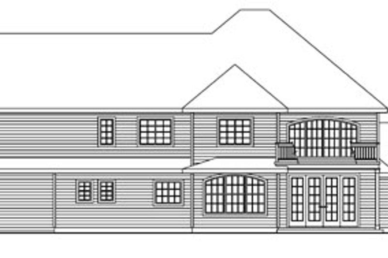 European Exterior - Rear Elevation Plan #124-735 - Houseplans.com