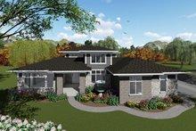 Architectural House Design - Modern Exterior - Front Elevation Plan #70-1430