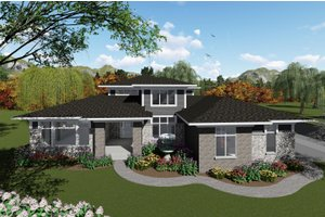 Architectural House Design - Modern Exterior - Front Elevation Plan #70-1430