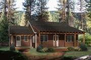 Country Style House Plan - 2 Beds 1 Baths 1000 Sq/Ft Plan #22-128 Exterior - Front Elevation