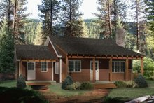 Home Plan - Country Exterior - Front Elevation Plan #22-128