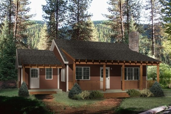 Country Exterior - Front Elevation Plan #22-128