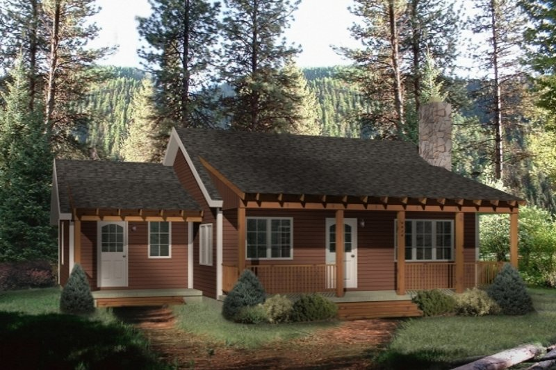 House Plan Design - Country Exterior - Front Elevation Plan #22-128