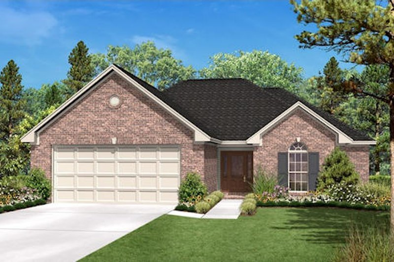 Ranch Exterior - Front Elevation Plan #430-12