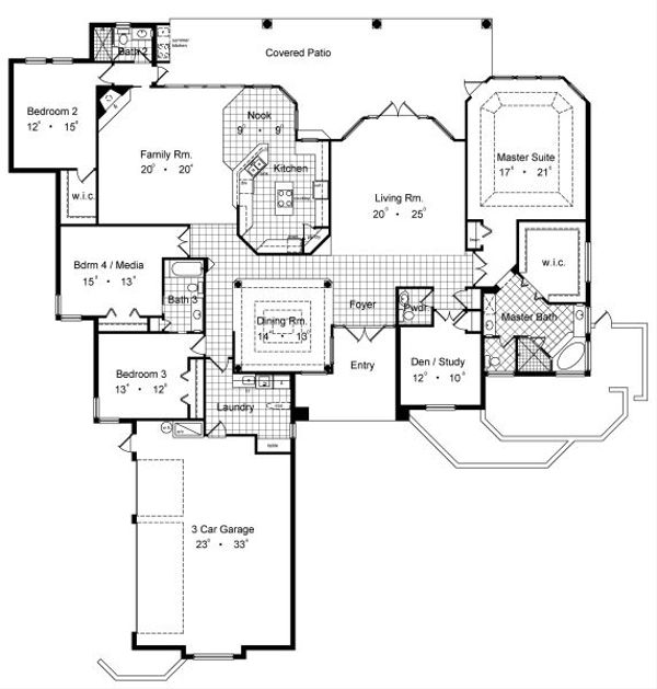 European Floor Plan - Main Floor Plan #417-406