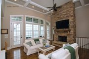 European Style House Plan - 4 Beds 4 Baths 2401 Sq/Ft Plan #929-4 Interior - Family Room