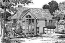 Country Exterior - Rear Elevation Plan #57-188