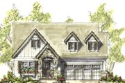 Cottage Style House Plan - 2 Beds 2 Baths 1556 Sq/Ft Plan #20-1210 Exterior - Front Elevation