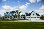 Country Style House Plan - 5 Beds 4.5 Baths 4724 Sq/Ft Plan #70-1488 Exterior - Front Elevation