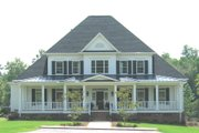 Colonial Style House Plan - 4 Beds 3.5 Baths 4411 Sq/Ft Plan #1054-29 Exterior - Front Elevation