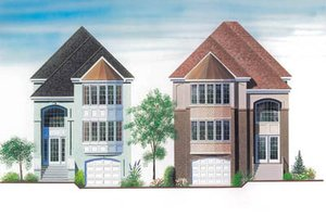 European Exterior - Front Elevation Plan #23-2134