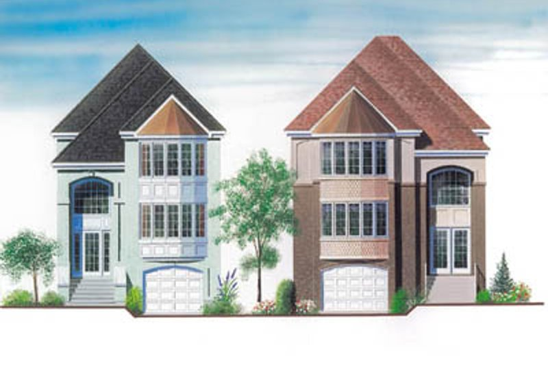 Architectural House Design - European Exterior - Front Elevation Plan #23-2134