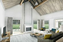Farmhouse Interior - Family Room Plan #924-5