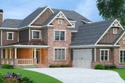 Craftsman Style House Plan - 4 Beds 5 Baths 3776 Sq/Ft Plan #419-269 Exterior - Front Elevation