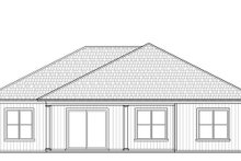 Craftsman Exterior - Rear Elevation Plan #938-100