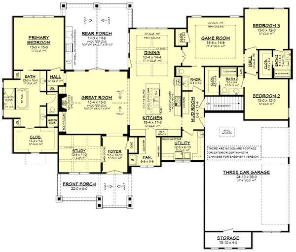 Ranch Floor Plan - Other Floor Plan #430-242