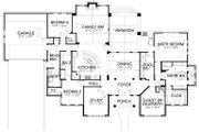Mediterranean Style House Plan - 4 Beds 3 Baths 3036 Sq/Ft Plan #80-222 Floor Plan - Main Floor Plan
