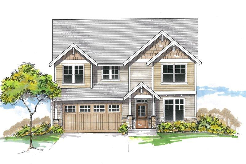 Architectural House Design - Craftsman Exterior - Front Elevation Plan #53-620