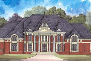 Classical Exterior - Front Elevation Plan #119-321