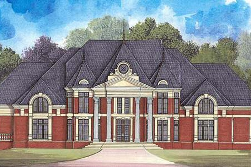 Classical Exterior - Front Elevation Plan #119-321 - Houseplans.com