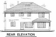 Mediterranean Style House Plan - 4 Beds 2.5 Baths 2428 Sq/Ft Plan #18-257 Exterior - Rear Elevation