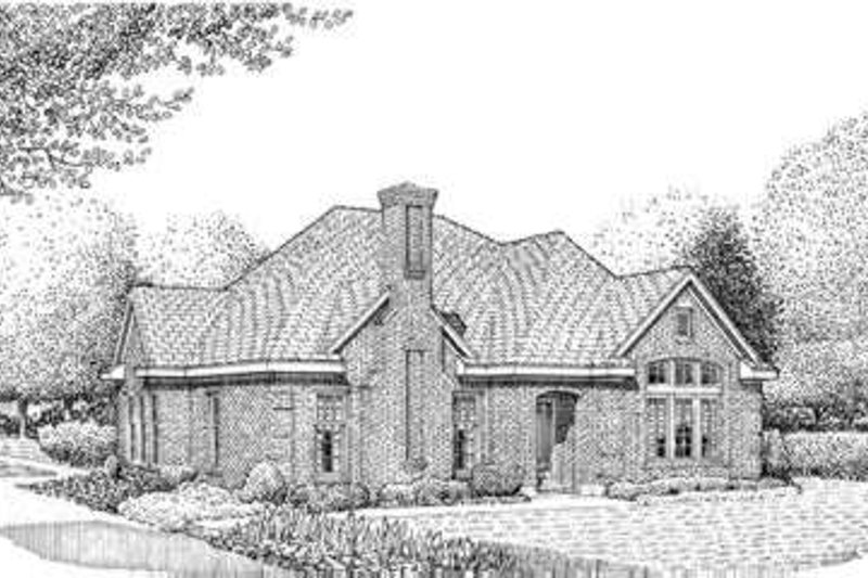 European Exterior - Front Elevation Plan #410-332