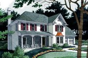 Farmhouse Style House Plan - 3 Beds 2.5 Baths 2157 Sq/Ft Plan #56-153 Exterior - Front Elevation