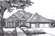 European Style House Plan - 3 Beds 2.5 Baths 2235 Sq/Ft Plan #310-822 Exterior - Front Elevation