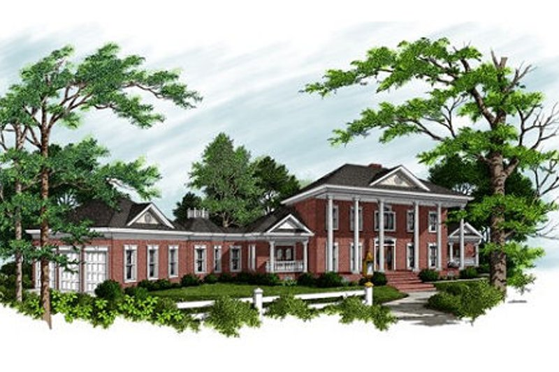 Dream House Plan - Colonial Exterior - Front Elevation Plan #56-228