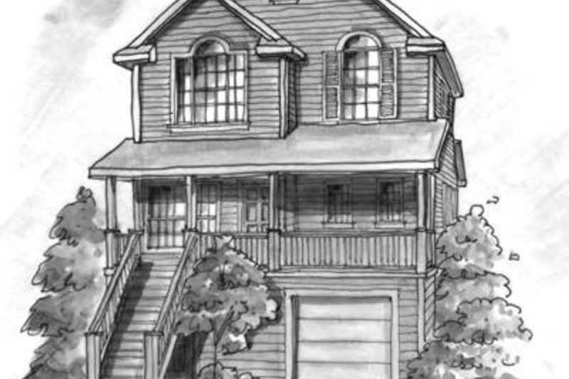 Cottage Exterior - Front Elevation Plan #20-437
