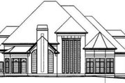European Style House Plan - 5 Beds 5.5 Baths 4195 Sq/Ft Plan #119-102 Exterior - Rear Elevation