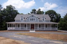 Dream House Plan - Farmhouse Exterior - Front Elevation Plan #56-238