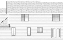Home Plan - Traditional Exterior - Rear Elevation Plan #70-604