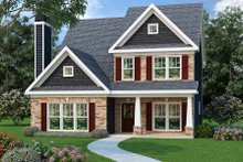 Dream House Plan - Traditional Exterior - Front Elevation Plan #419-206