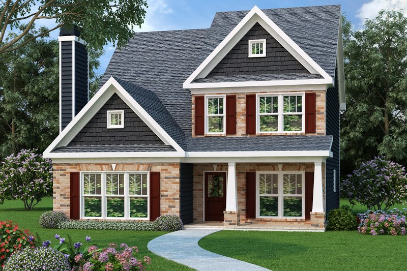 Traditional Exterior - Front Elevation Plan #419-206 - Houseplans.com