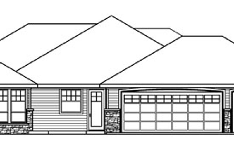 Ranch Exterior - Other Elevation Plan #124-752 - Houseplans.com