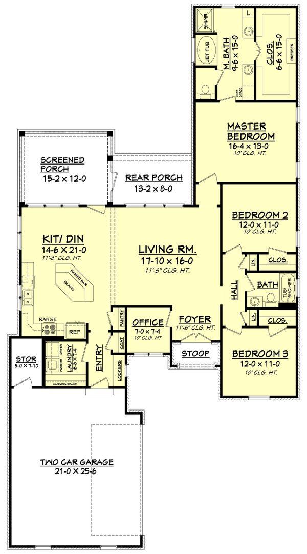 European Floor Plan - Main Floor Plan Plan #430-92