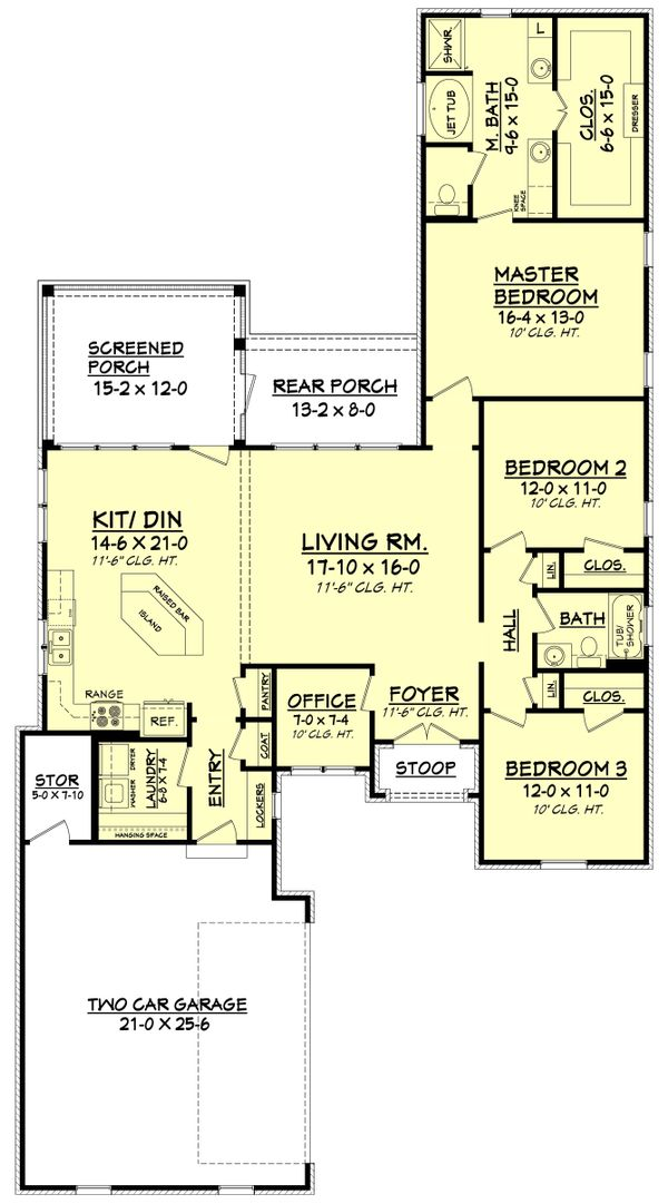 European Floor Plan - Main Floor Plan Plan #430-92
