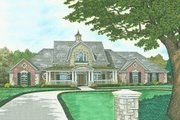 Farmhouse Style House Plan - 4 Beds 3.5 Baths 3953 Sq/Ft Plan #310-239 Exterior - Front Elevation