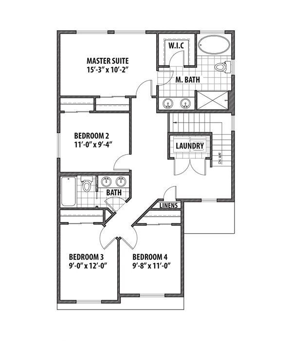 Country Floor Plan - Upper Floor Plan Plan #569-32