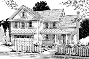 Country Exterior - Front Elevation Plan #20-359