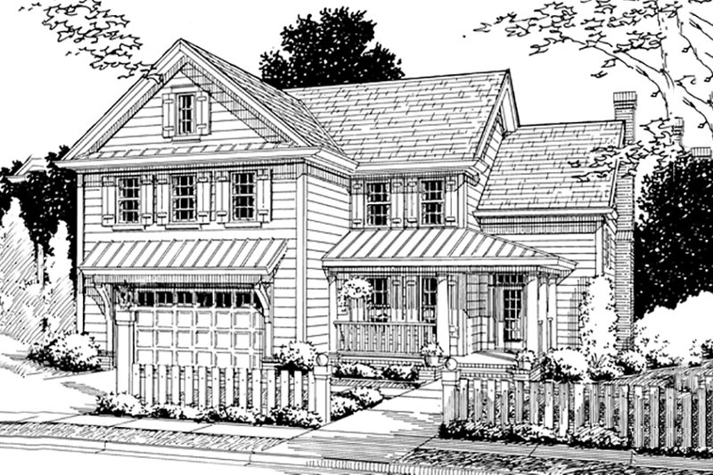 Country Style House Plan - 4 Beds 3 Baths 2199 Sq/Ft Plan #20-359