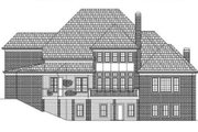 European Style House Plan - 4 Beds 4.5 Baths 4222 Sq/Ft Plan #119-347 Exterior - Rear Elevation