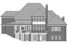 European Exterior - Rear Elevation Plan #119-347