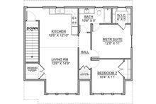 Craftsman Floor Plan - Upper Floor Plan Plan #1073-10