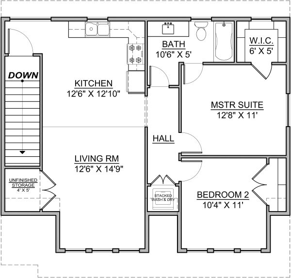Craftsman Floor Plan - Upper Floor Plan Plan #1073-10