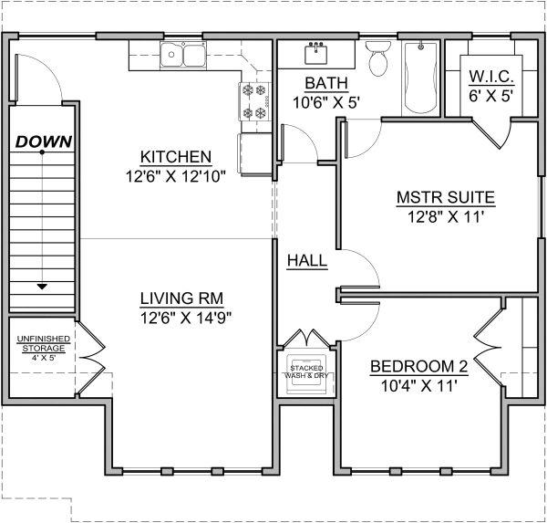 House Design - Craftsman Floor Plan - Upper Floor Plan #1073-10